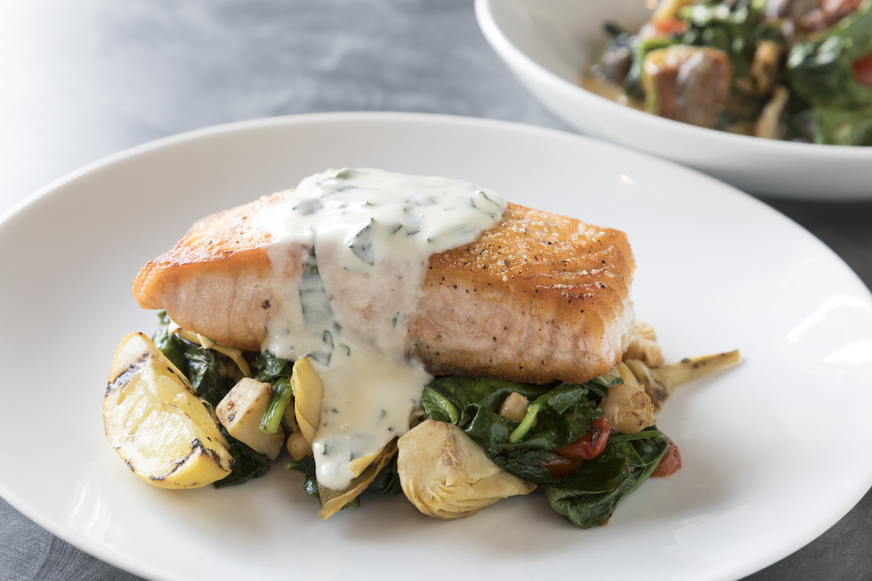 food photography of salmon
