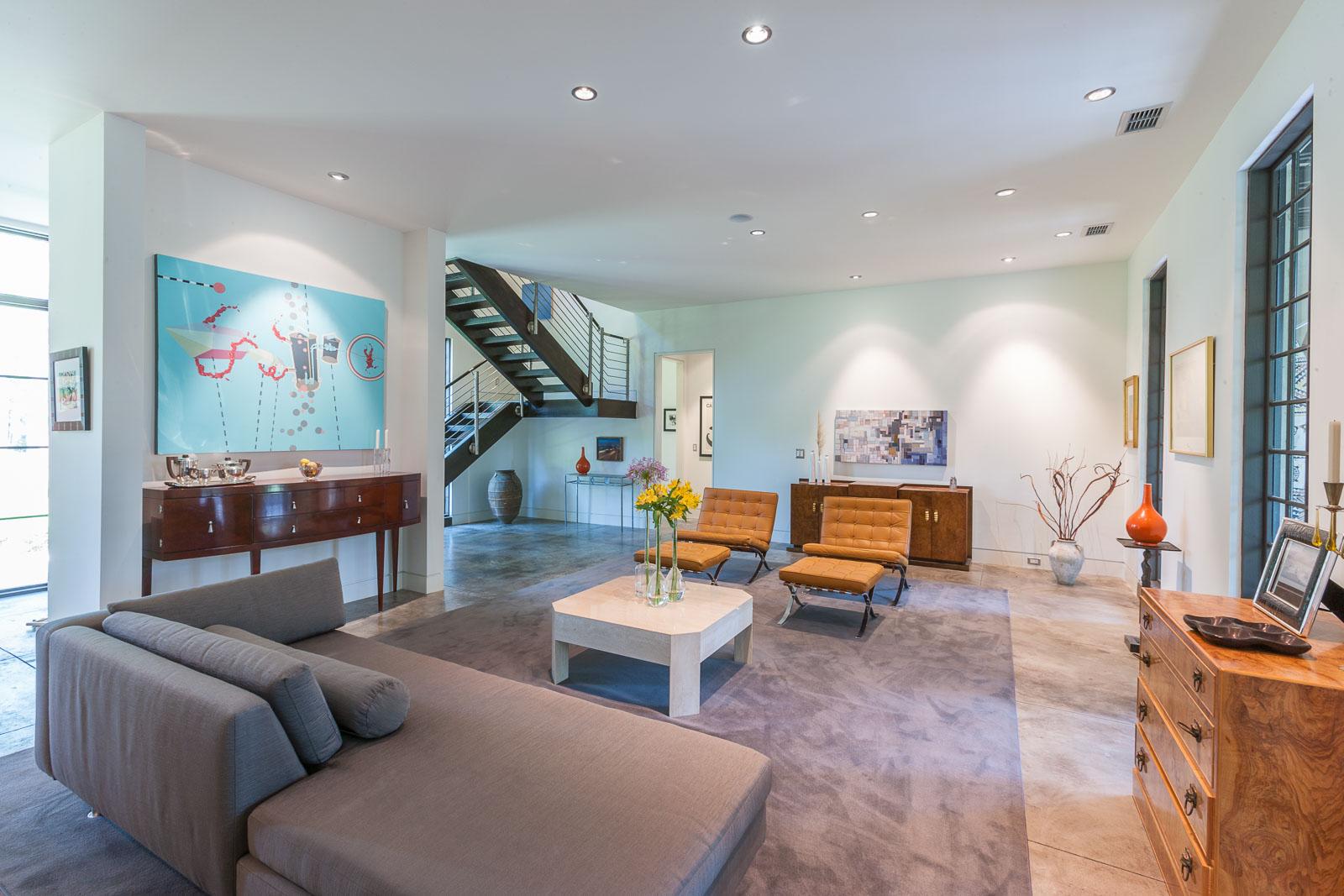 Interior Architecture photograph of living room Savannah, GA